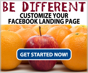 Do not settle for a default custom Facebook page - STAND OUT WITH A CUSTOM PAGE TODAY!