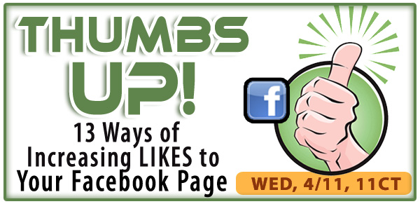 13 Ways of Increasing LIKES to Your Facebook Page